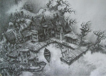 Harbor_(pencil_drawing)_Wallpaper_sgnpy